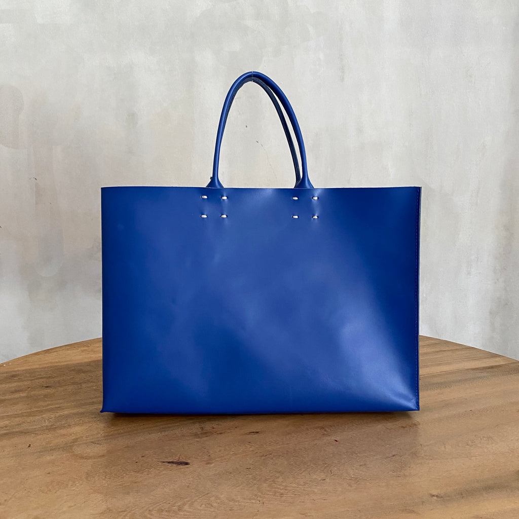 Katsunori Leather Tote - Medium Klein Blue  Bag