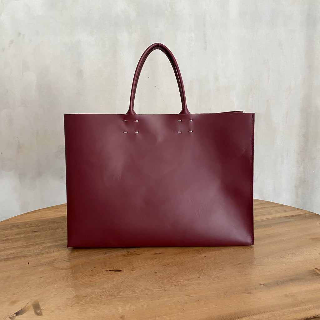 Katsunori Leather Tote - Medium Cherry  Bag