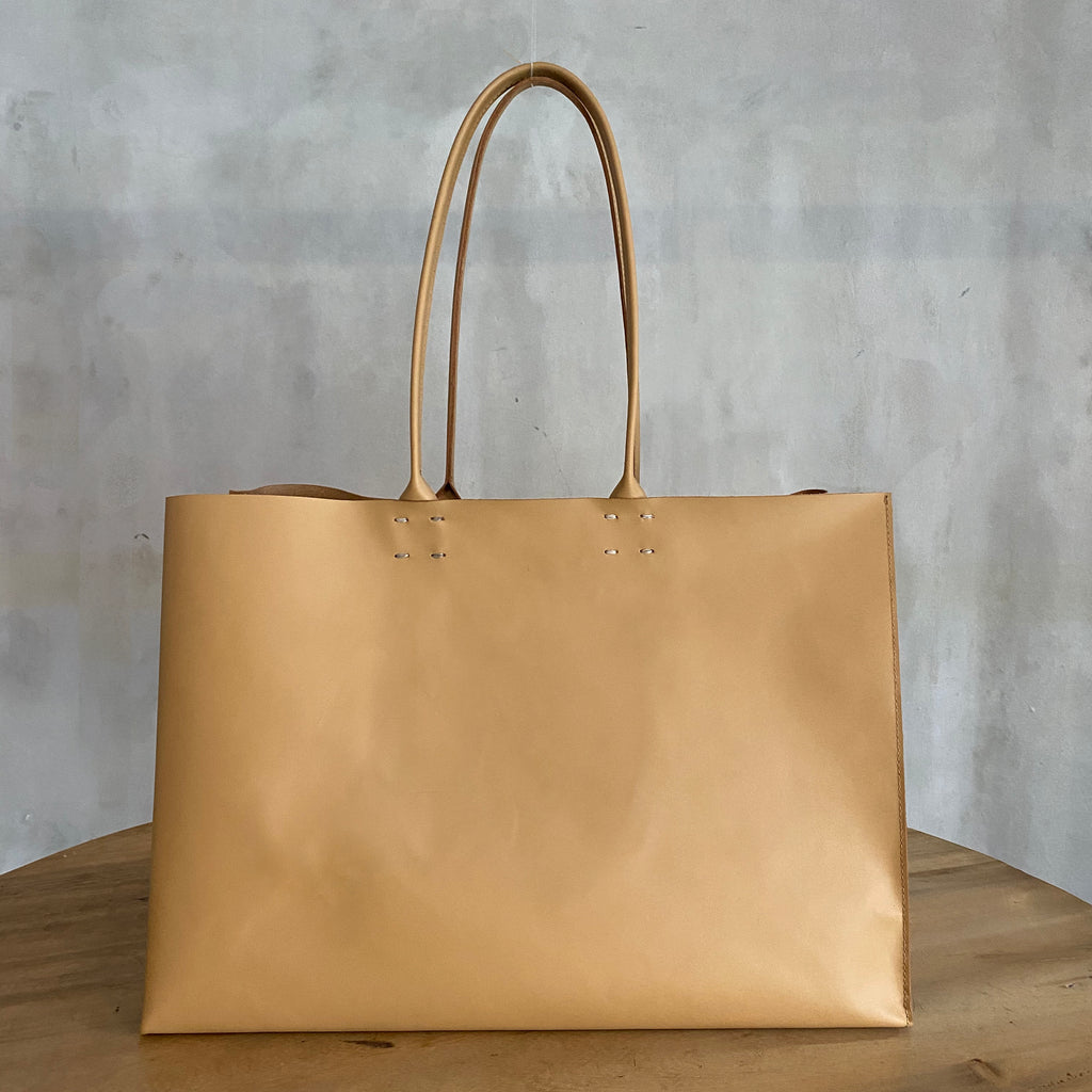 Katsunori Leather Tote - Large Camel  Bag