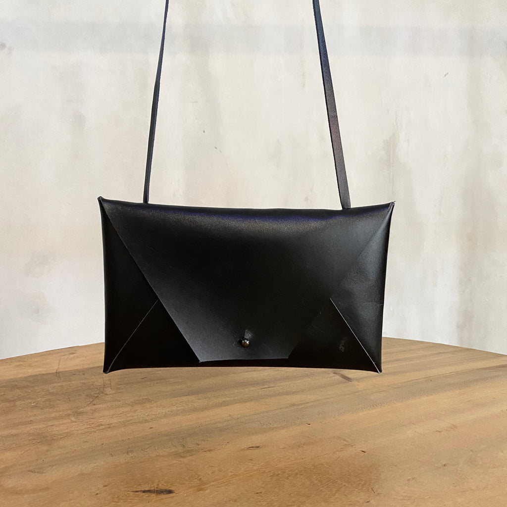 Katsunori Leather Envelope Bag - Black  Bag