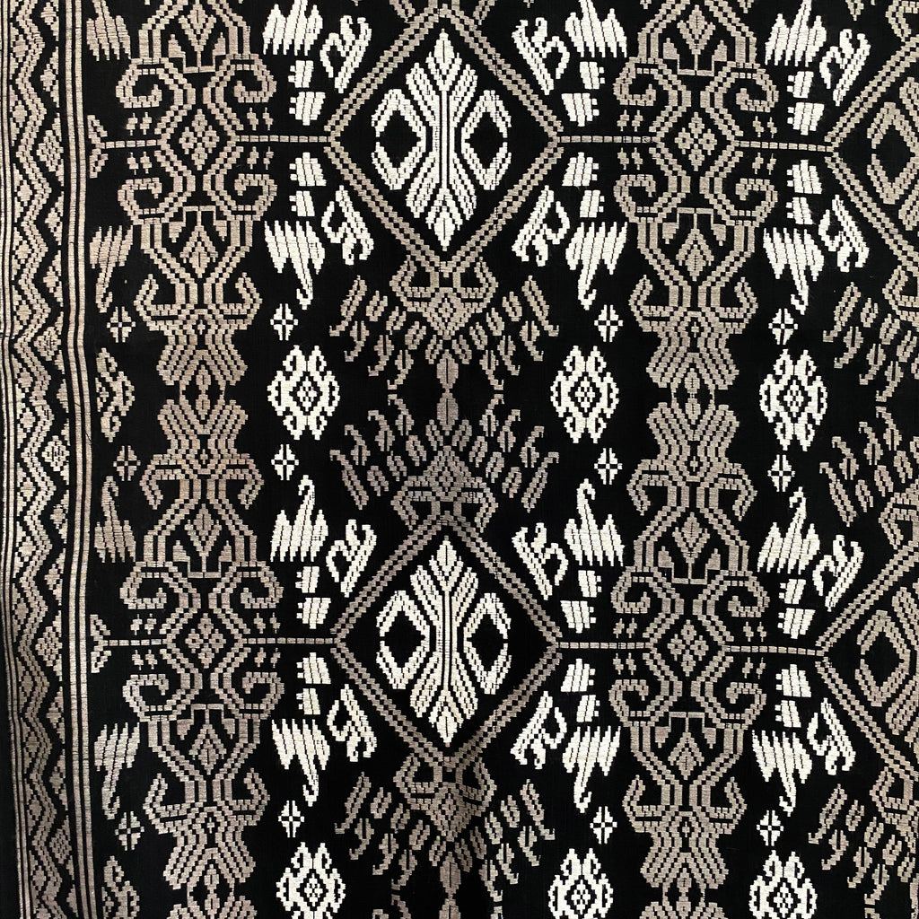 Songket Fabric - Black/ White/ Grey  Fabric