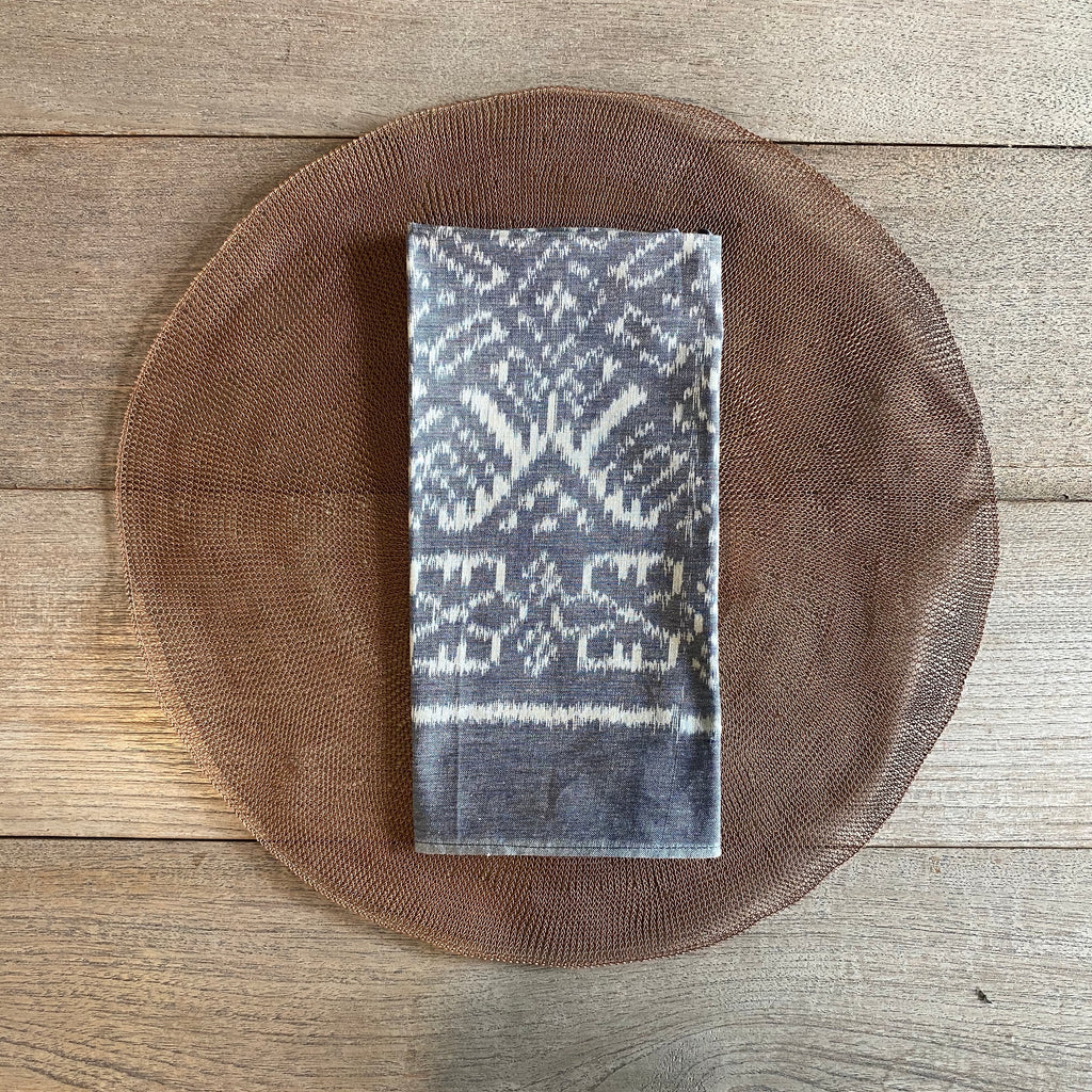 Ikat Napkins - Silver (set of 8)  napkin