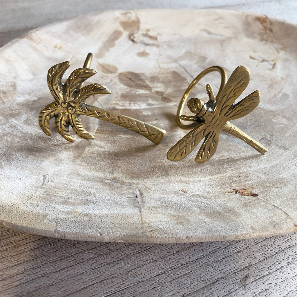 Brass Napkin Ring - Dragonfly  (set of 8 - only available for purchase with Ikat Napkins)  napkin