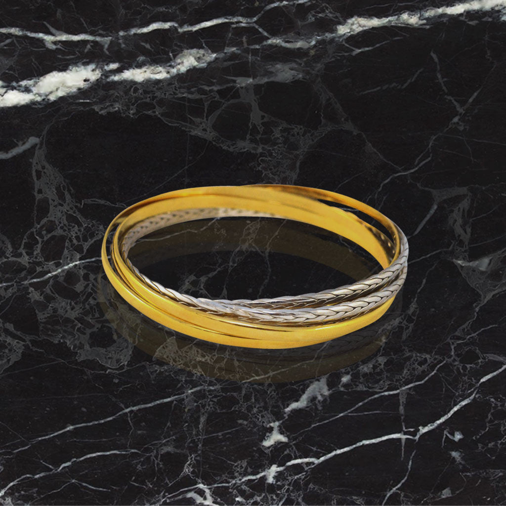Infinity Bangle - Gold Plated