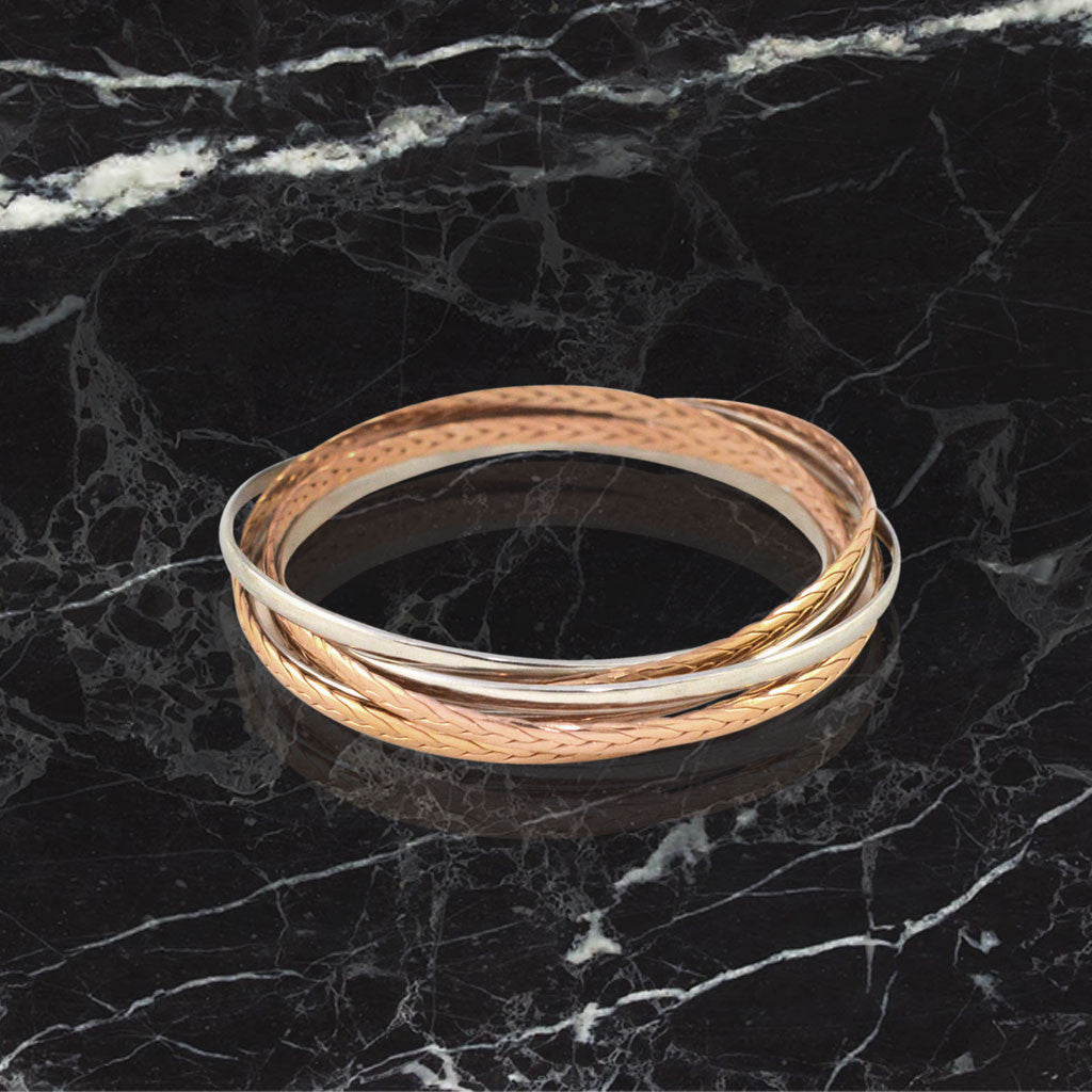 Infinity Bangle - Rose Gold