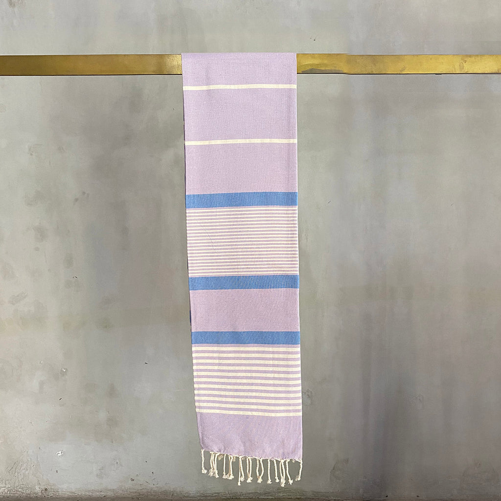 Tunisian Towel - Lavender/ Blue  Homewares