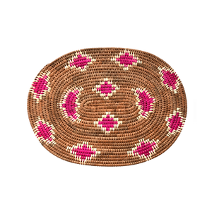 Handwoven Banana Palm Placemat - Leopard