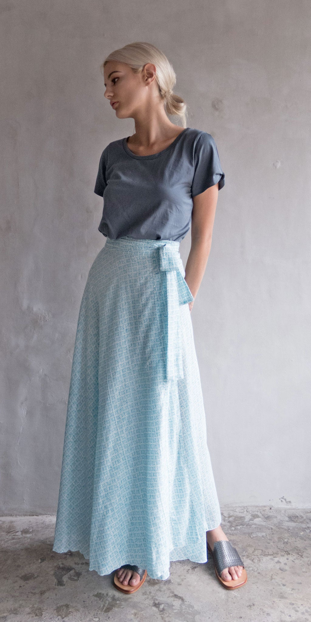 China Wrap Skirt - Pale Green