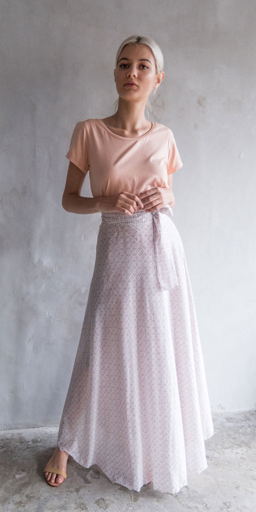 China Wrap Skirt - Pale Pink
