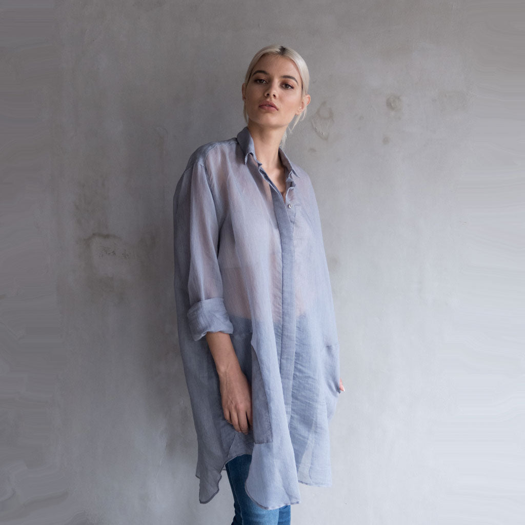 Yeoh Shirt Dress - Dark Blue  Dress
