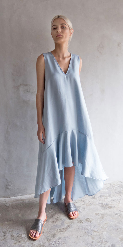 Ziyi Swing Dress - Pale Blue
