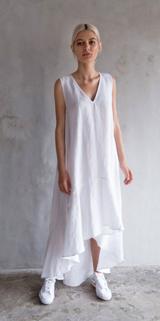 Ziyi Swing Dress - White