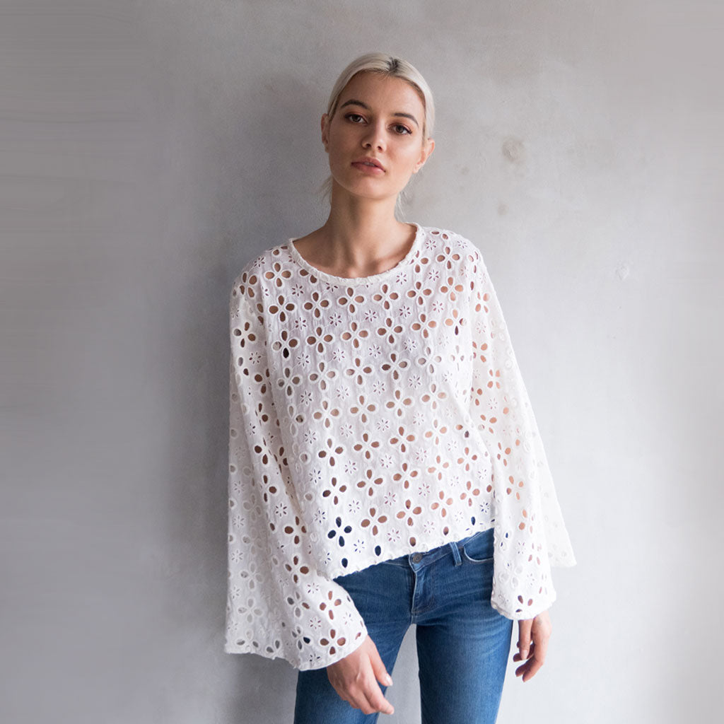 Wu Top - Broderie Anglaise