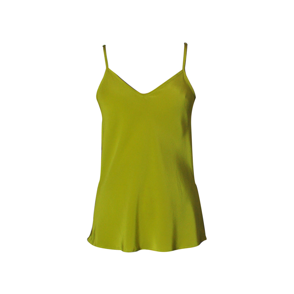 Maggie Silk Camisole - chartreuse