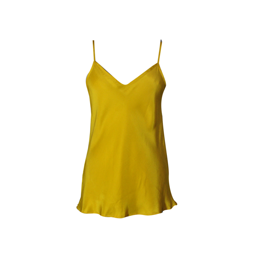 Maggie Silk Camisole - matte imperial yellow