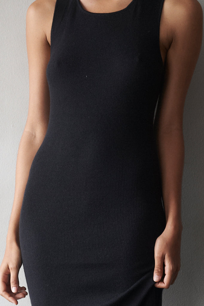 Superfine Cashmere Ribbed Tank Dress  Womens Clothing