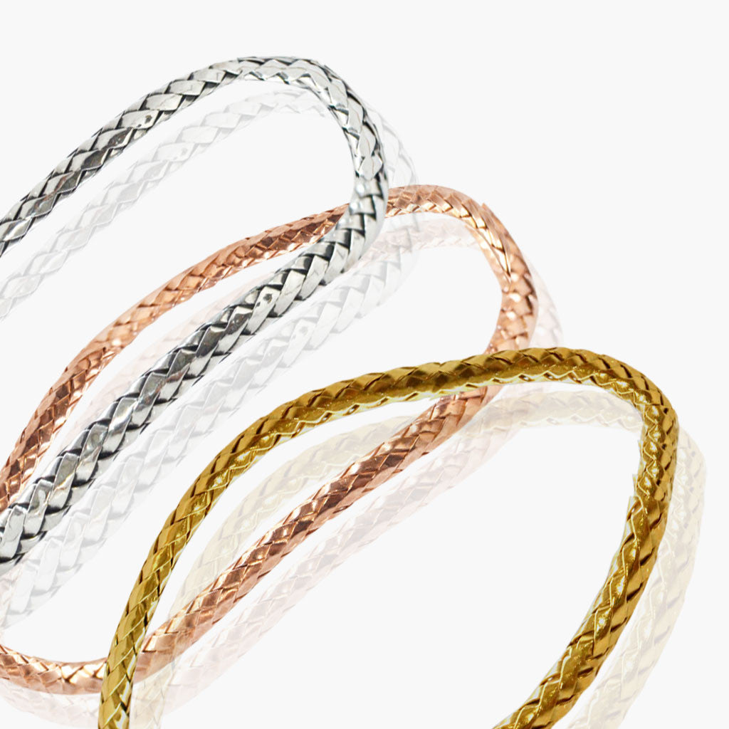 Rope Bangle Bracelet - Rose Gold