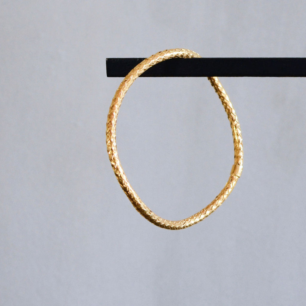 Rope Bangle Bracelet - Gold Plated