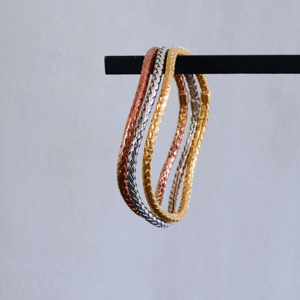 Rope Bangle Bracelet - Sterling Silver
