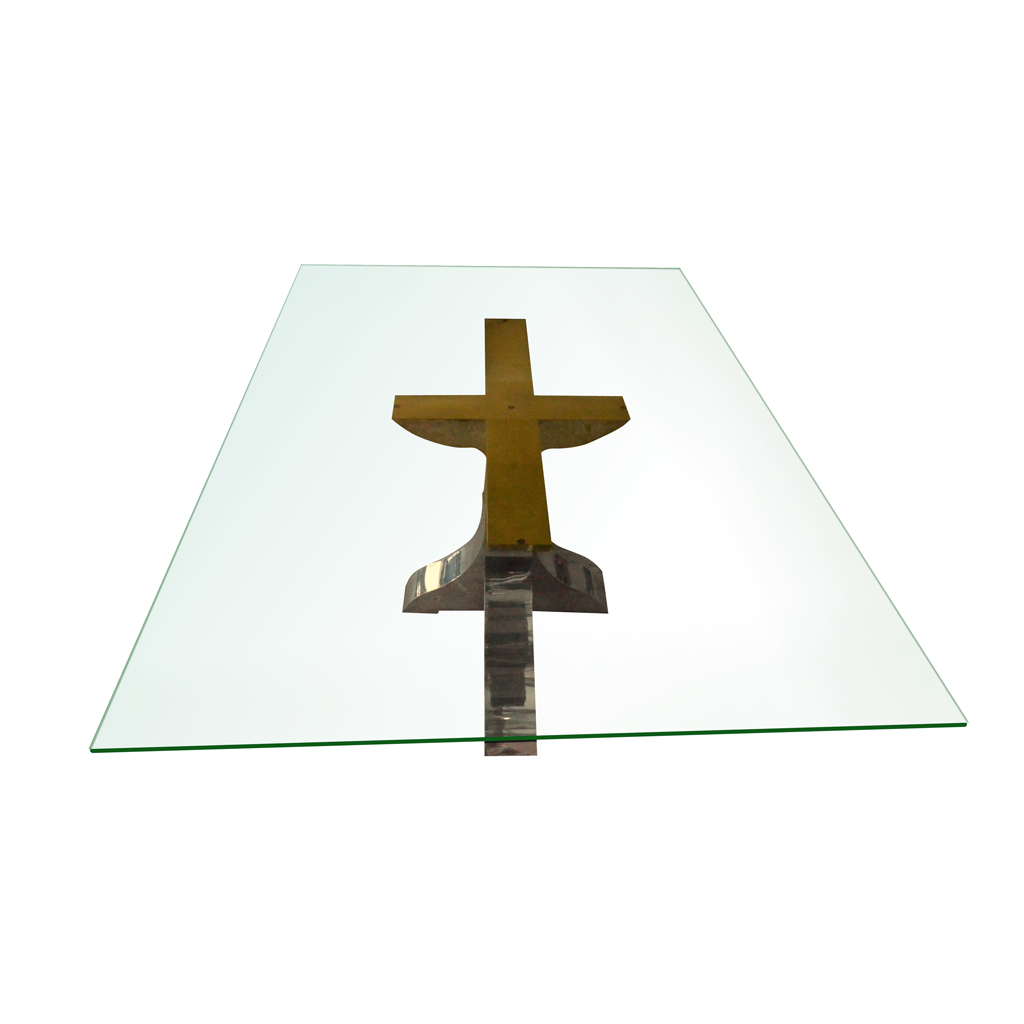 Stainless Steel Base Glass Table