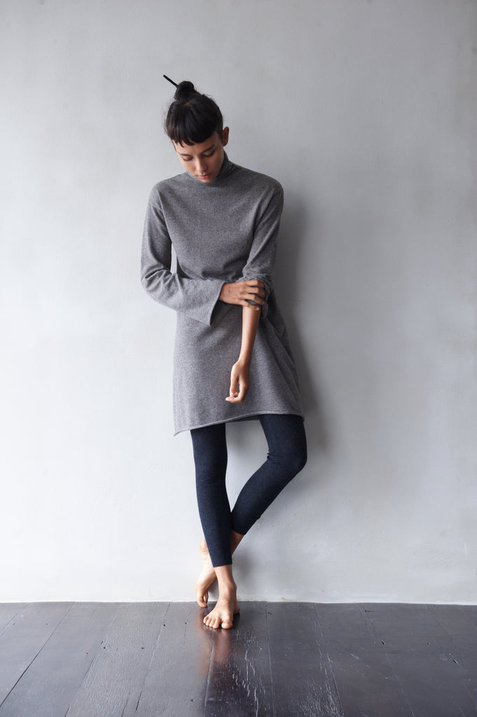 Mid-Weight Turtle-Neck Sweater Dress  Women's Clothing