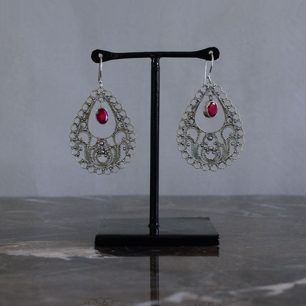 Teardrop Earring in Silver