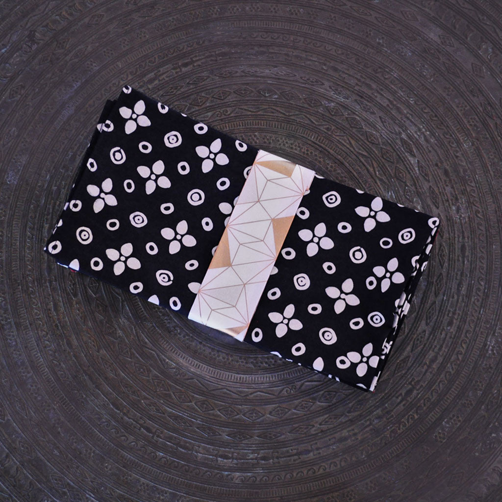 Black Cotton Batik Cloth Napkins (Set of 8)