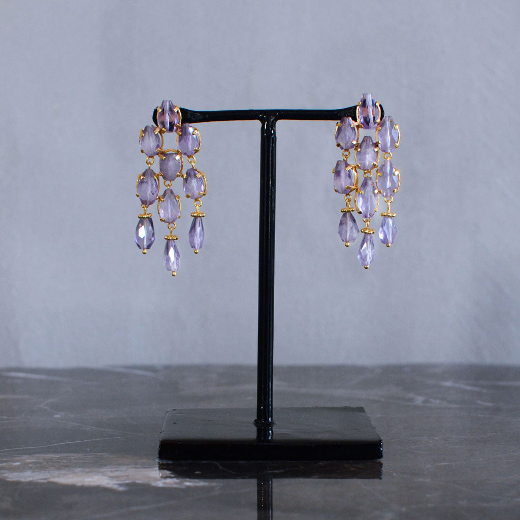 Amethyst Chandelier Earrings Default Title Jewellery souqstoreonline