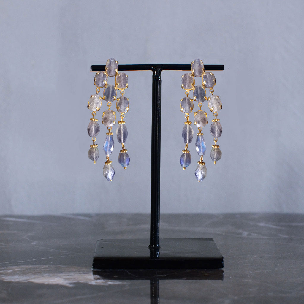 Rainfall Earrings - Laboradite  Jewellery