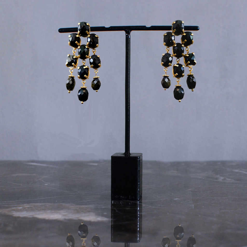 Onyx Chandelier Earrings  Jewellery