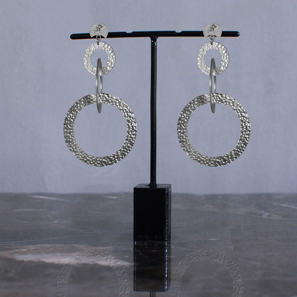 Samsara Earrings - Silver Default Title Jewellery