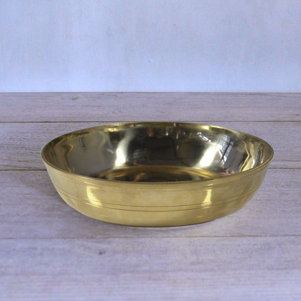 Flat Brass Bowl (Set of 4)