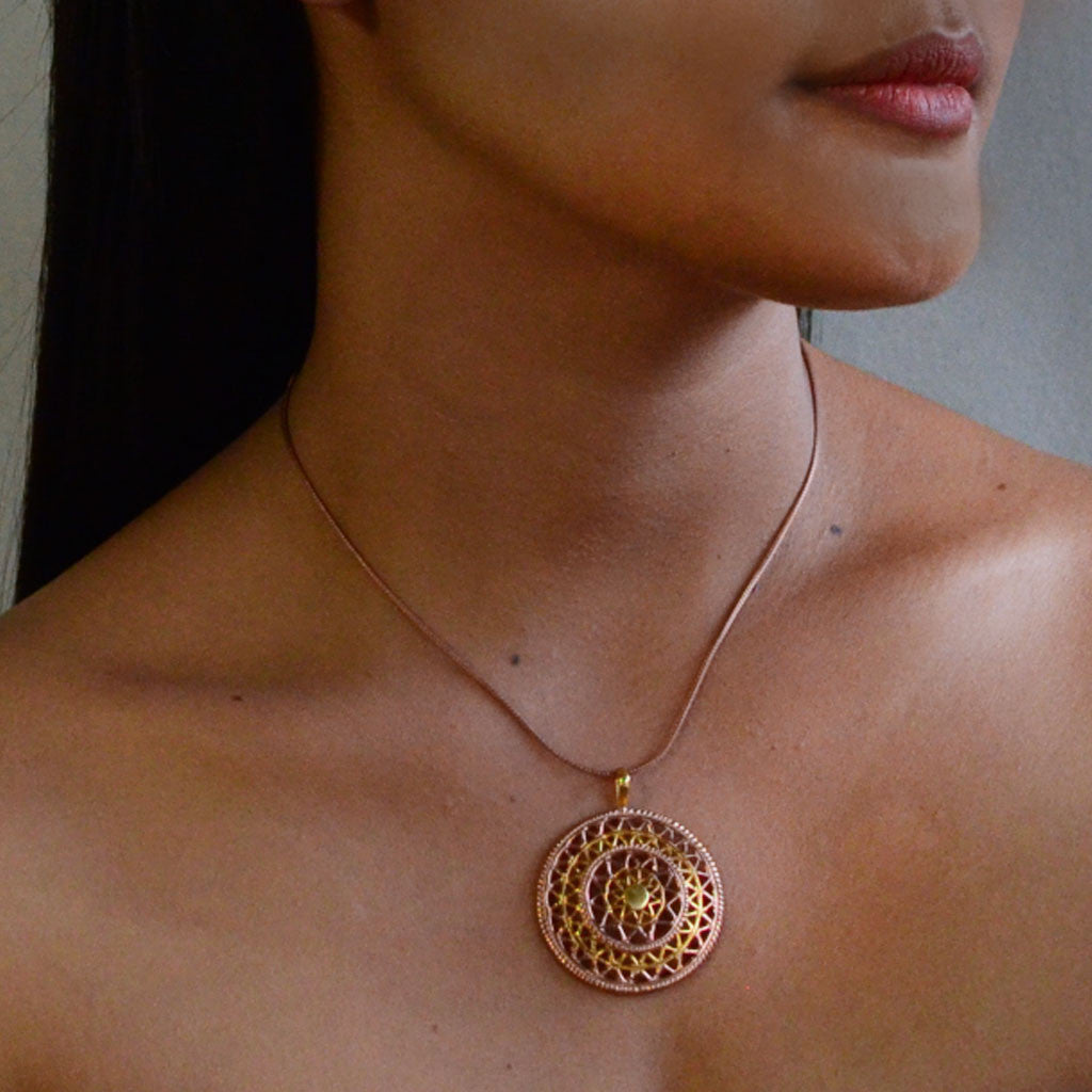 Mandala Necklace - Rose Gold  Jewellery