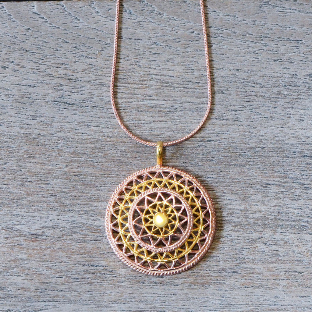 Mandala Necklace - Rose Gold Default Title Jewellery