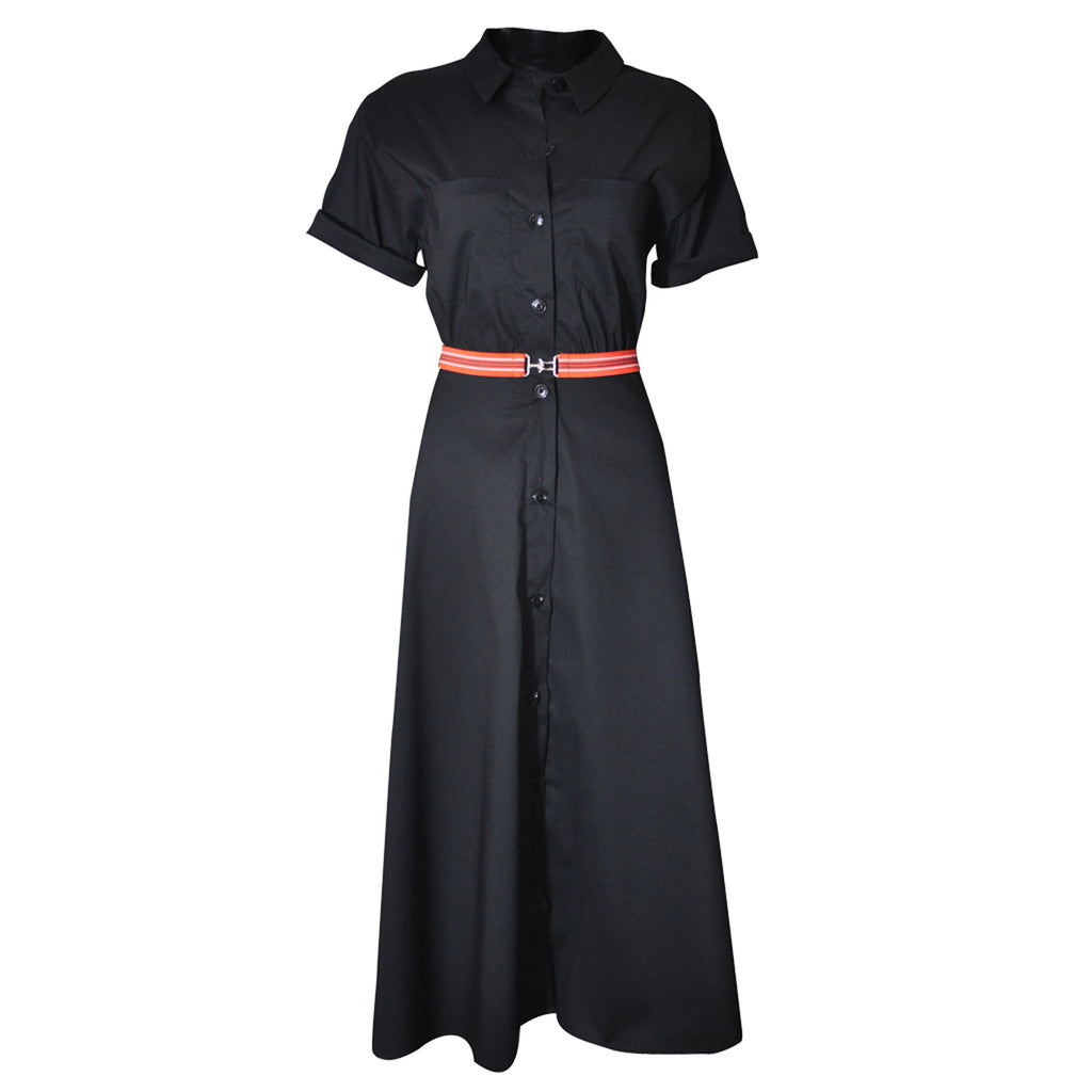 Prue Vintage Shirt Dress - black