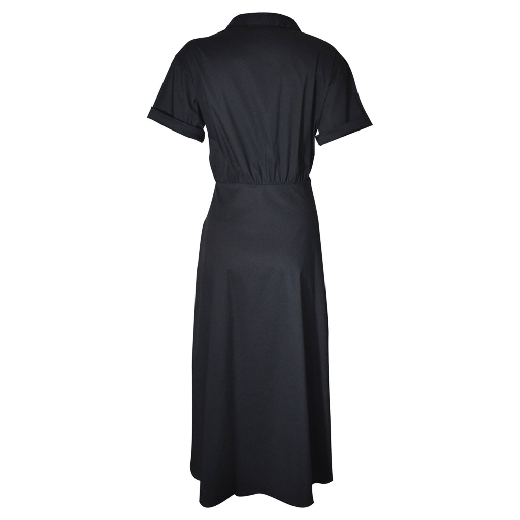 Prue Vintage Shirt Dress - black  Dress