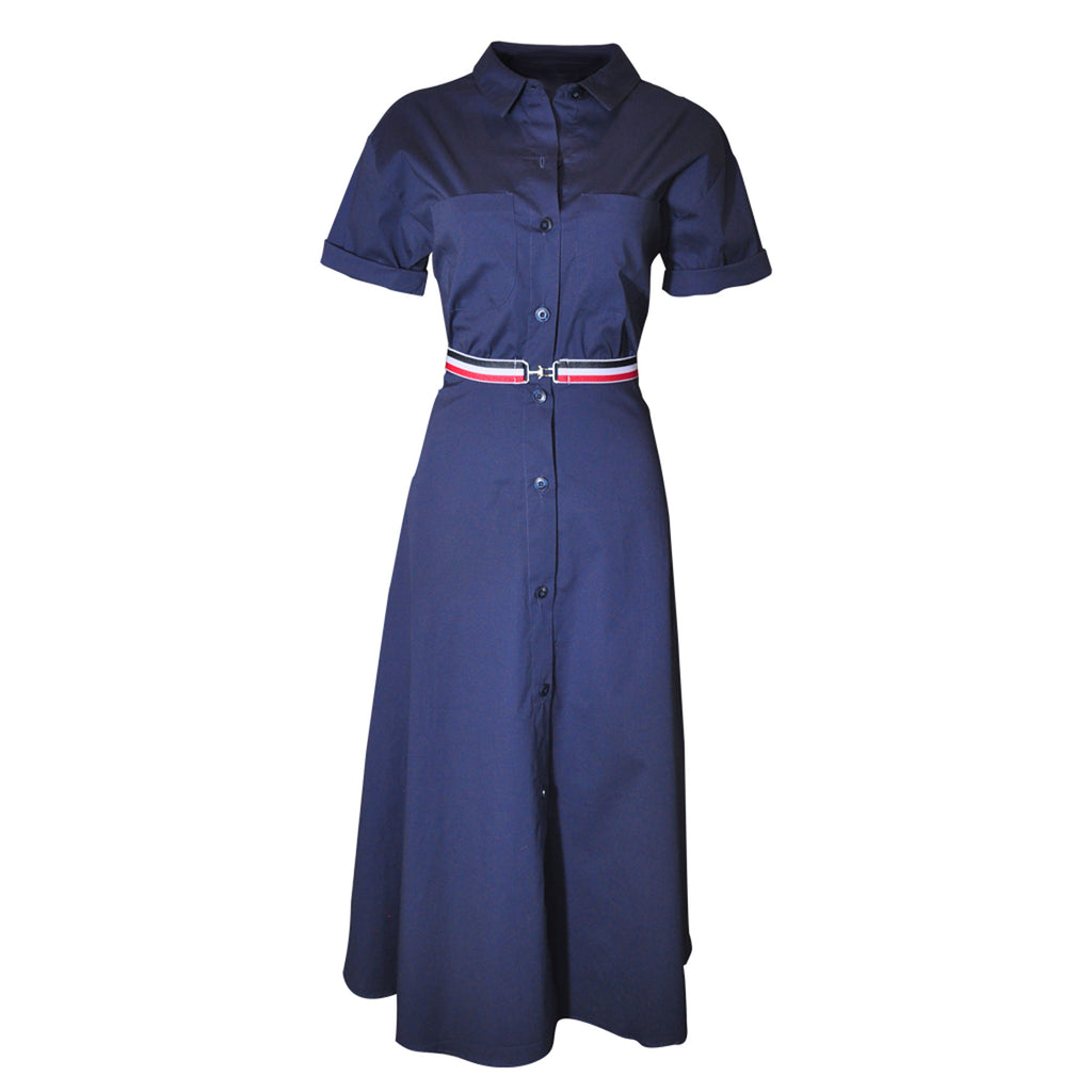 Prue Vintage Shirt Dress - indigo  blue