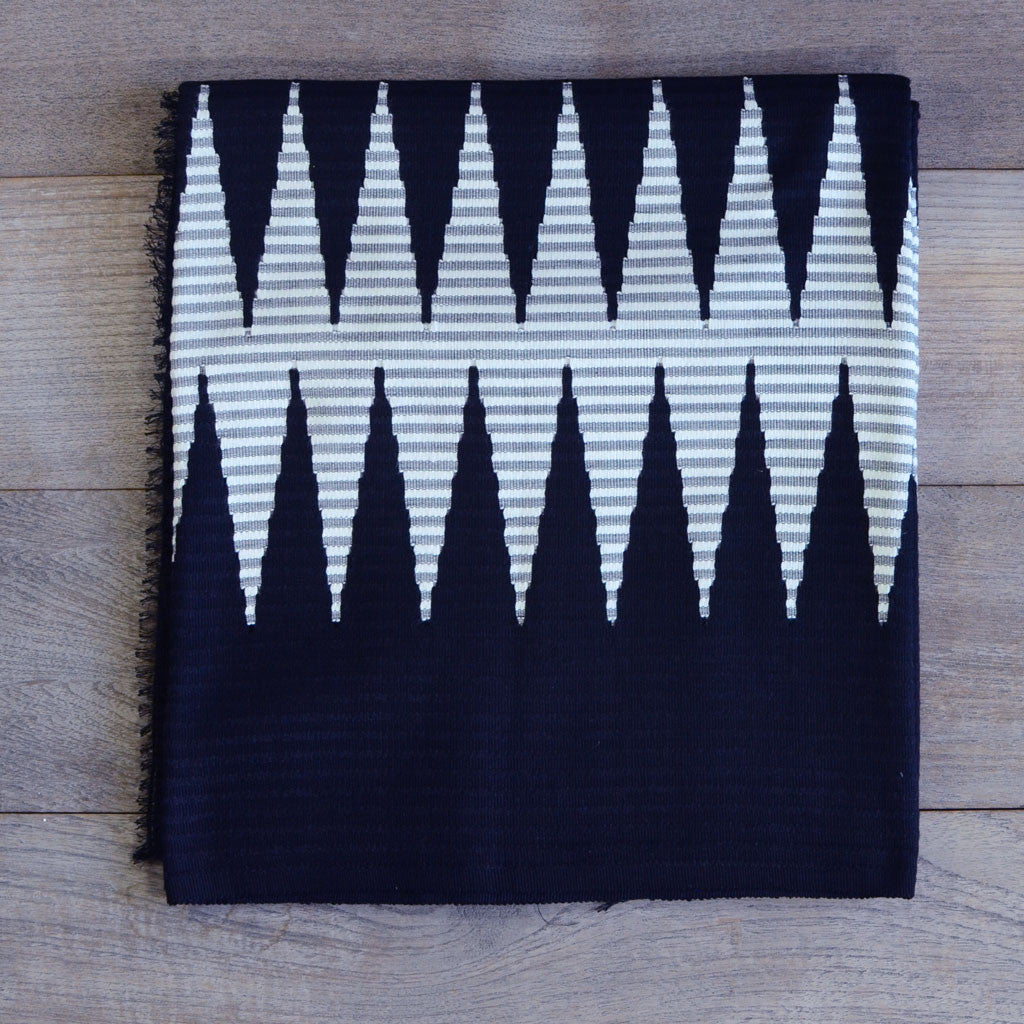Rang Rang Cotton Throw - Zig Zag