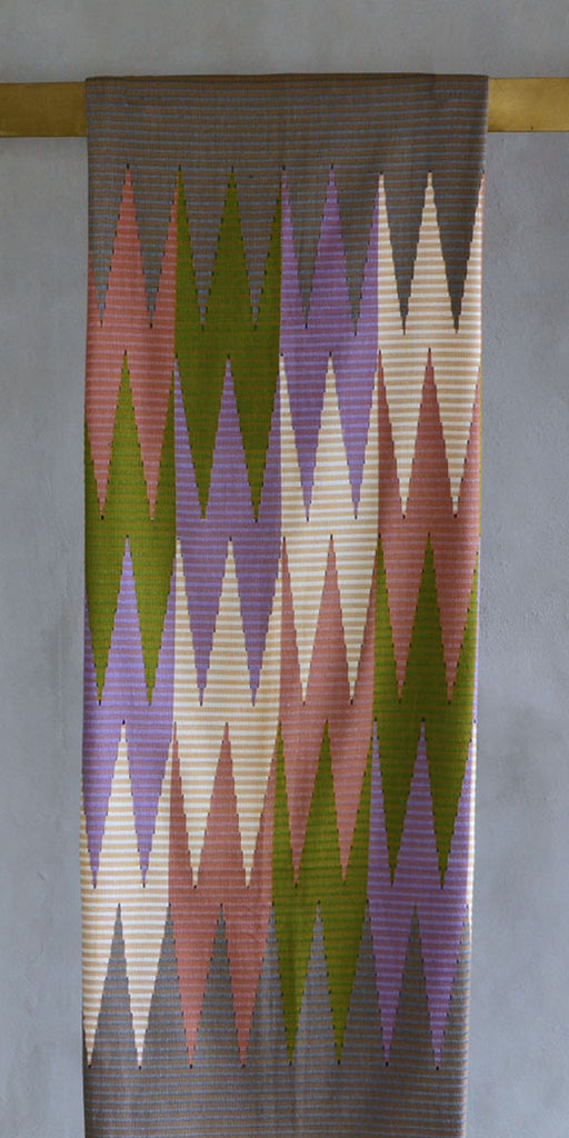 Rang Rang Cotton Throw - Mixed Zig Zag