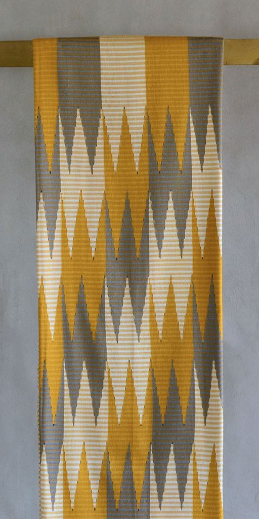 Rang Rang Cotton Throw - Gold Zig Zag