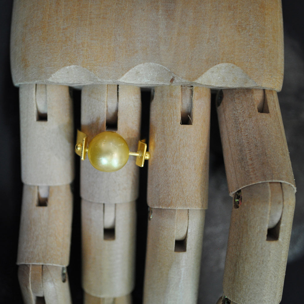 Single Pearl Ring Gold  Jewellery