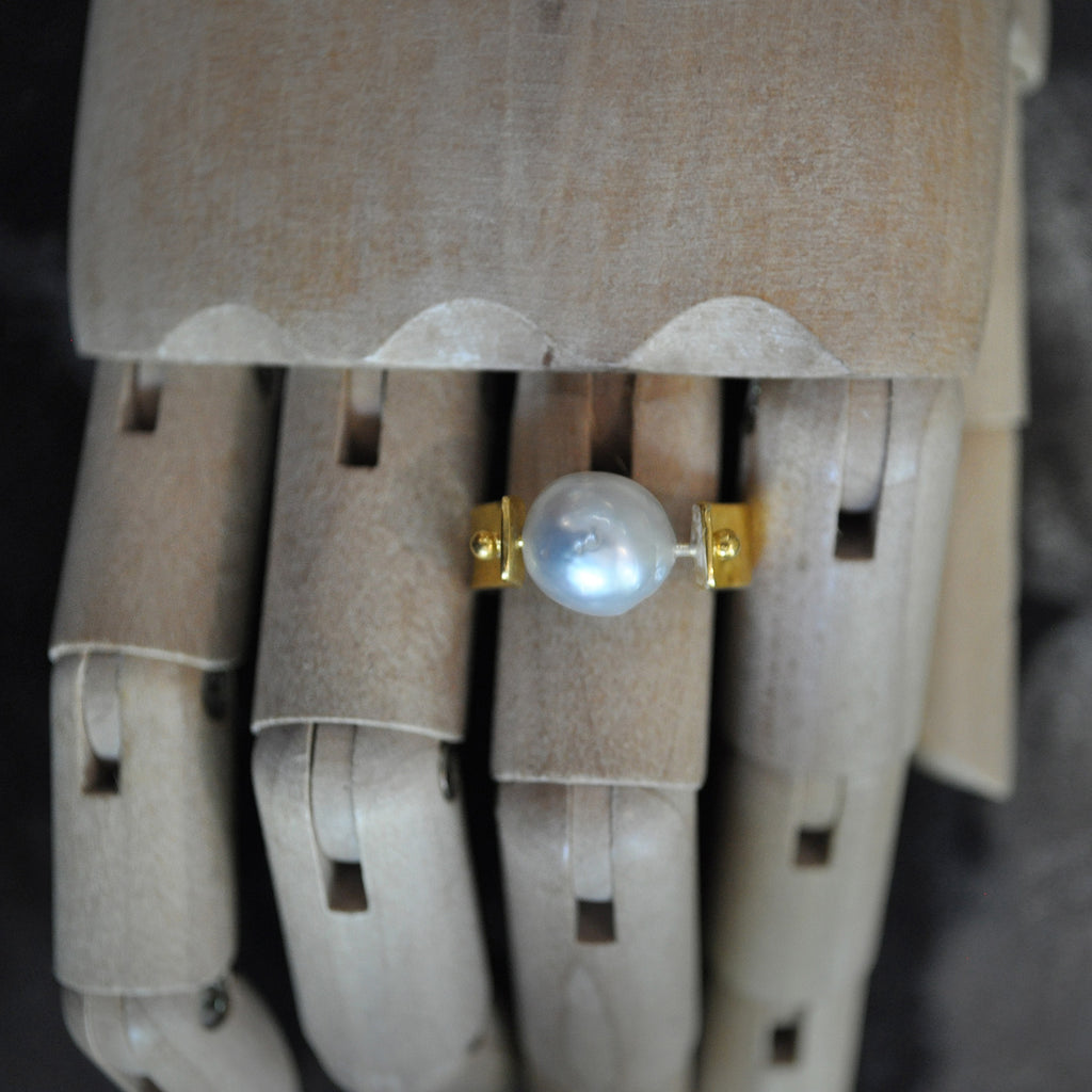 Single Pearl Ring Silver  Jewellery