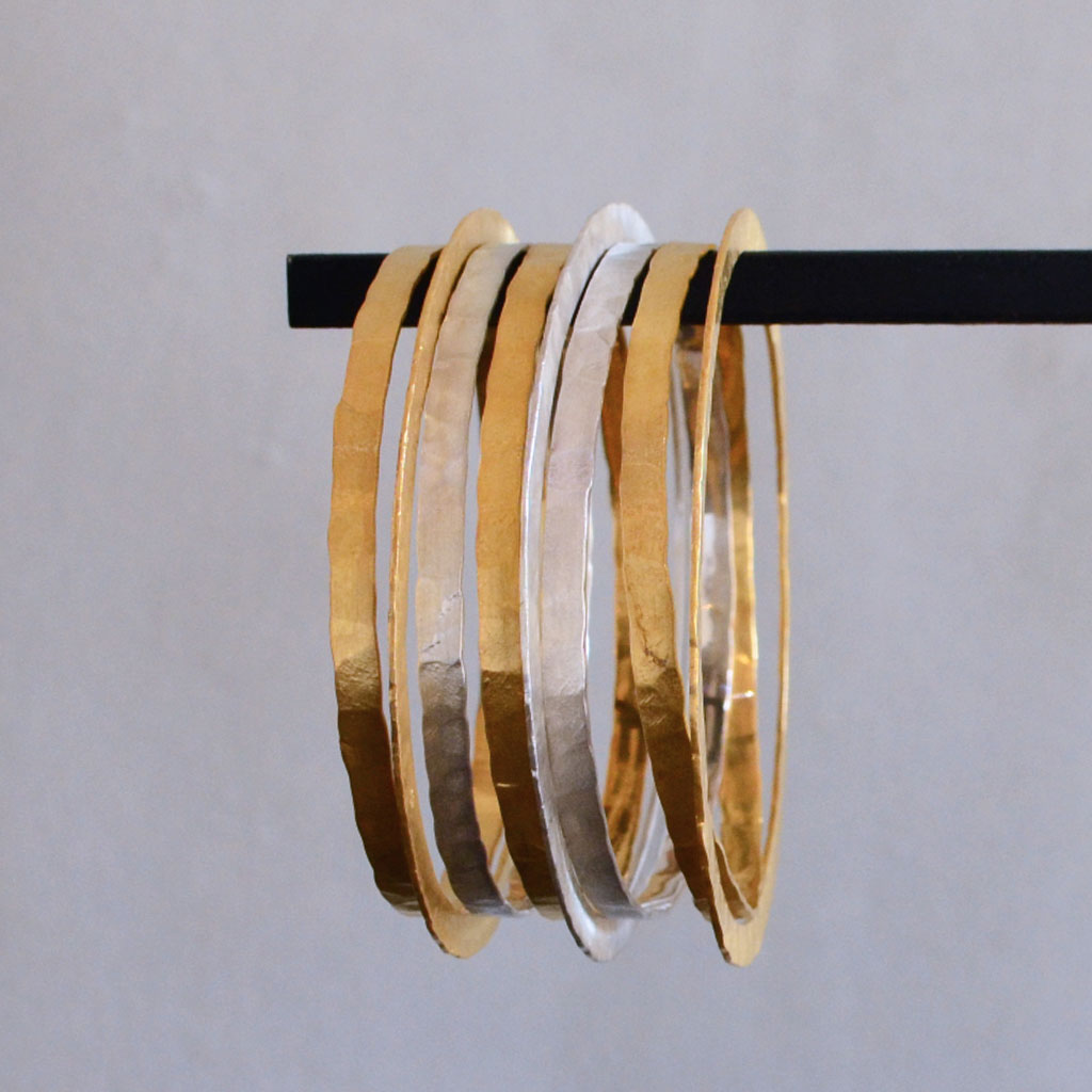 Hindu Wide Bangles - Gold  Jewellery