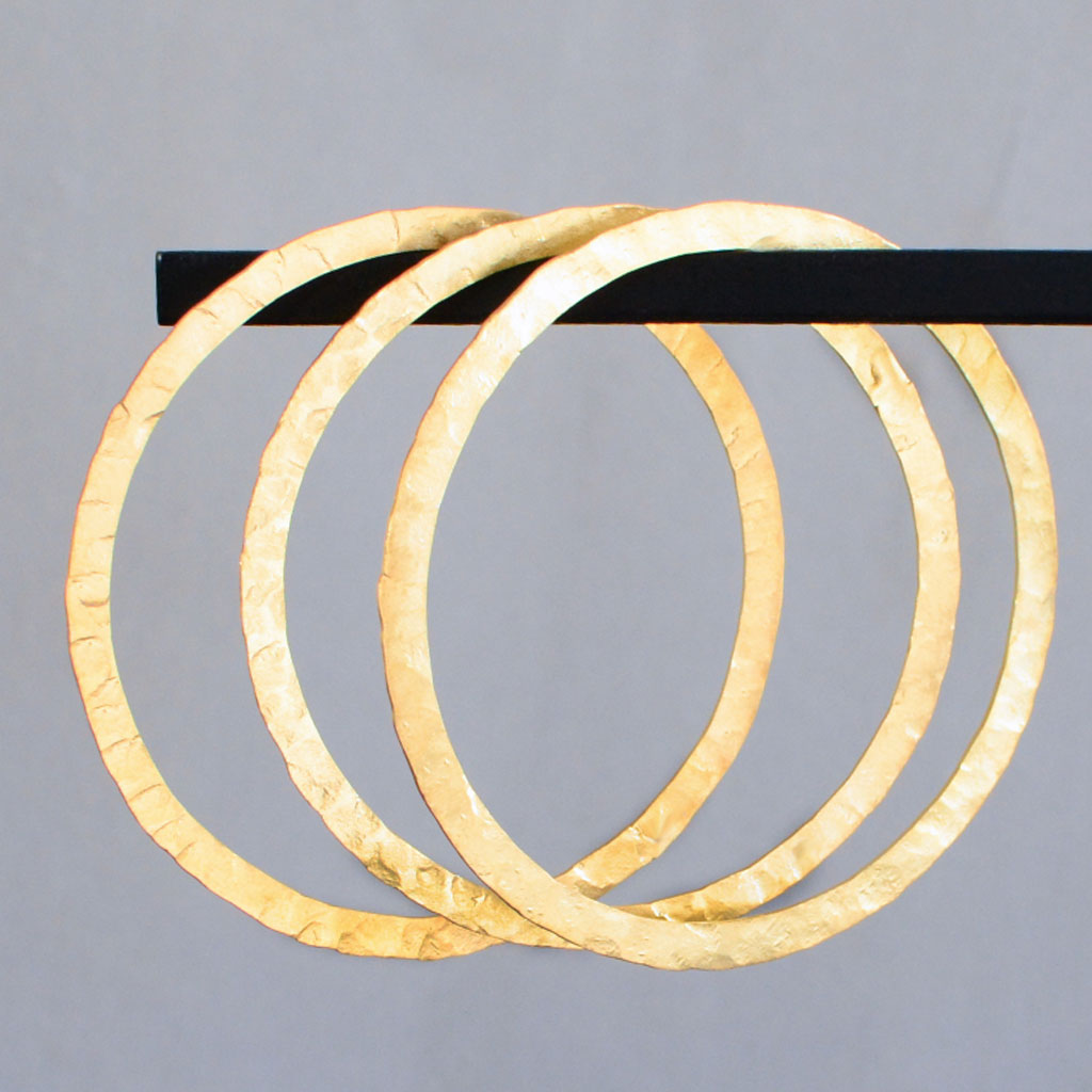Hindu Bangles - Flat, Gold Plated (set of 2)