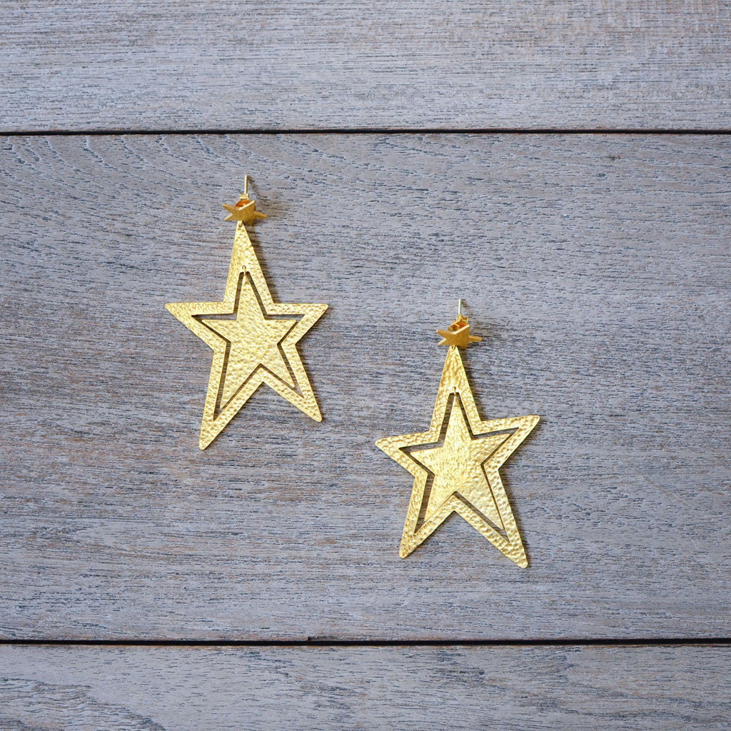 Sirius Earrings - Gold
