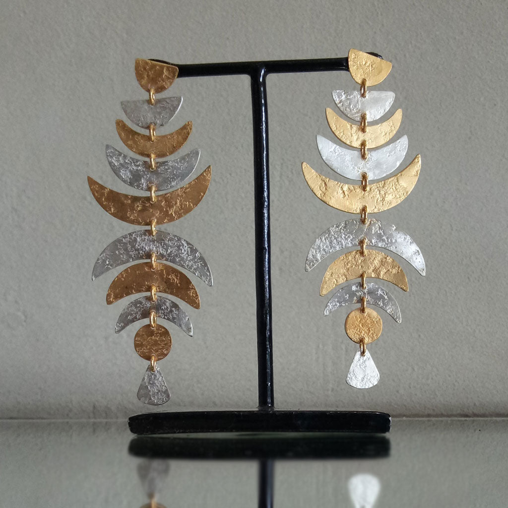 Susun Earrings - Gold & Silver  Jewellery