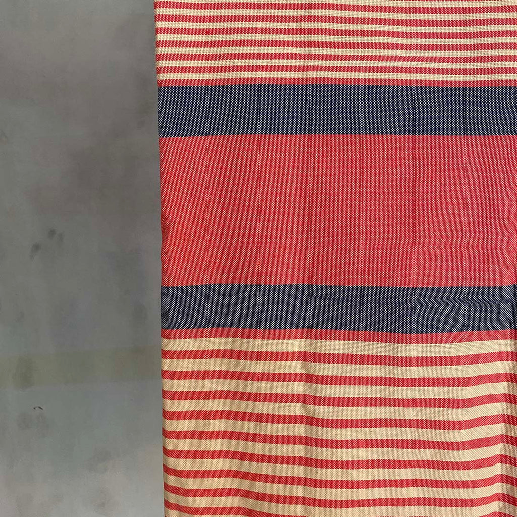 Tunisian Towel - Coral/ Denim  Homewares