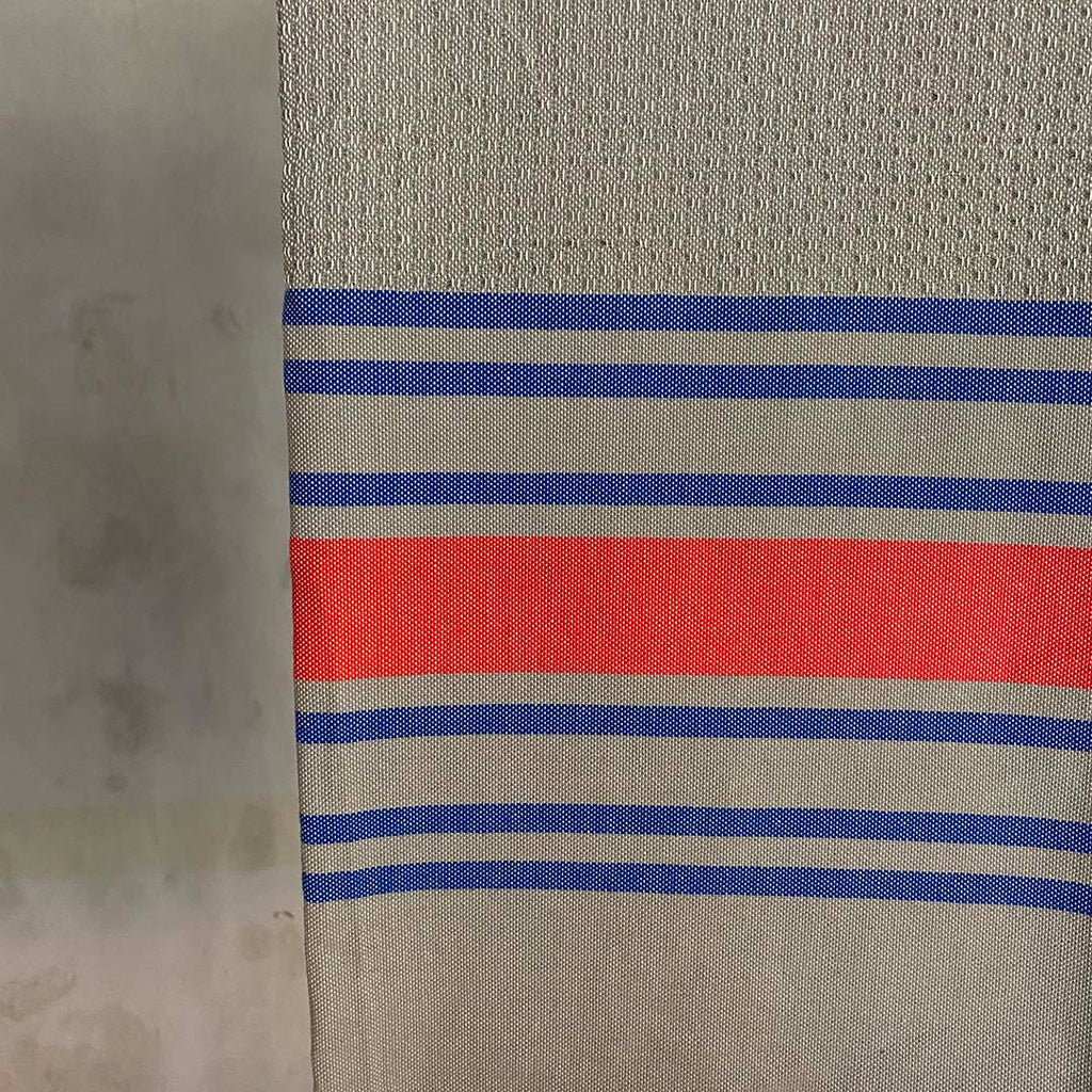 Tunisian Towel - Grey/ Coral/ Blue  Homewares