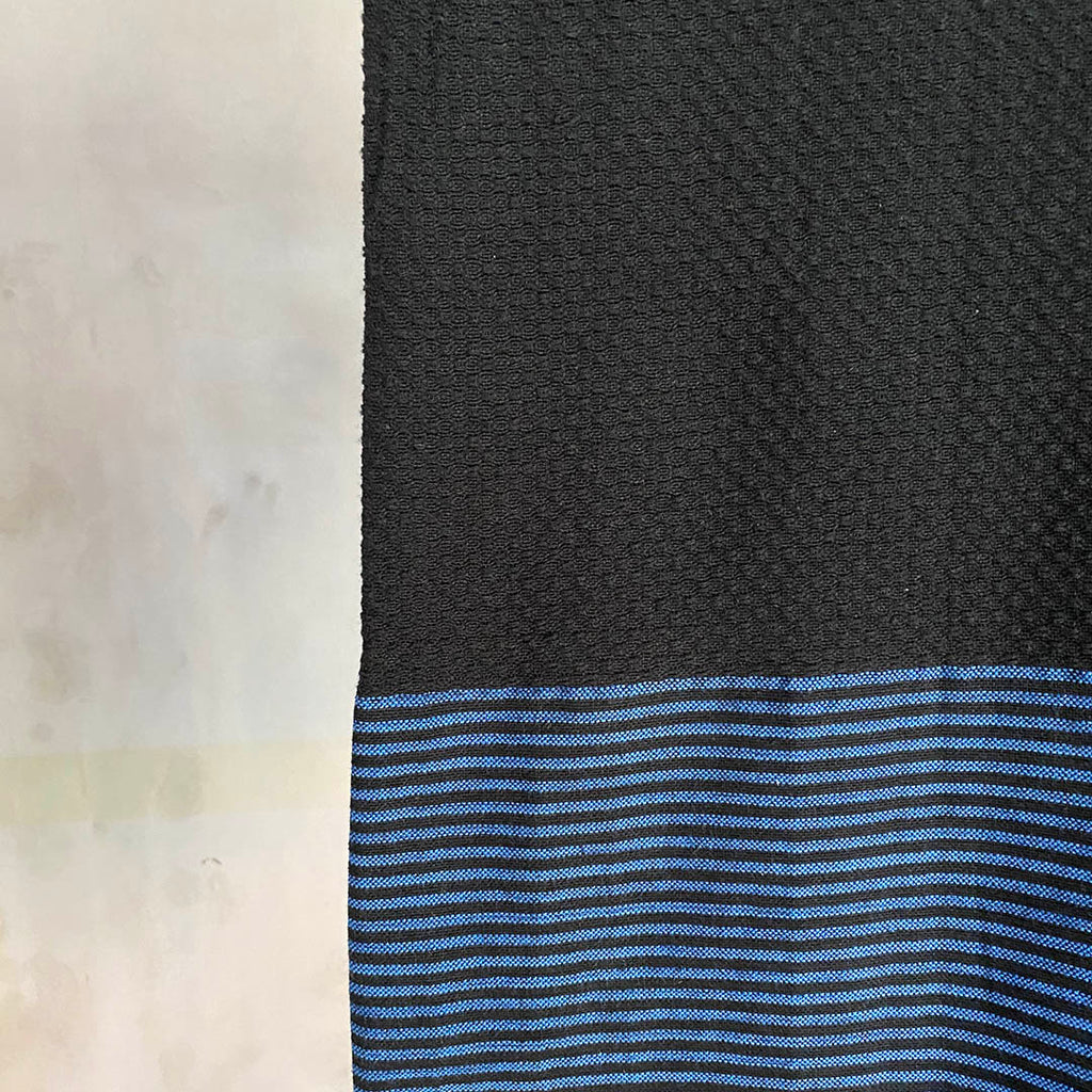Tunisian Towel - Black/ Cobalt  Homewares