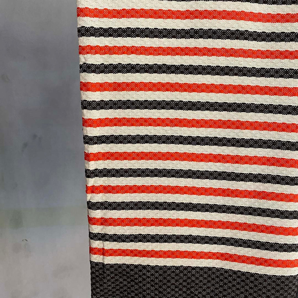 Tunisian Towel - Tomato/ Charcoal  Homewares